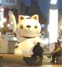 高雄の巨大お化け招き猫