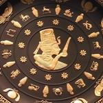エジプト柄のジャスパー陶器