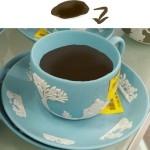 もし水色ジャスパーにコーヒーを注いだなら